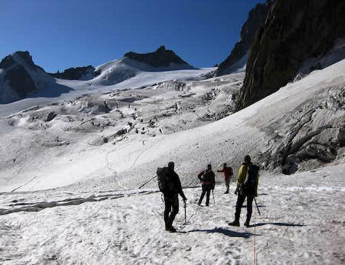 Towards the Glacier du Geant