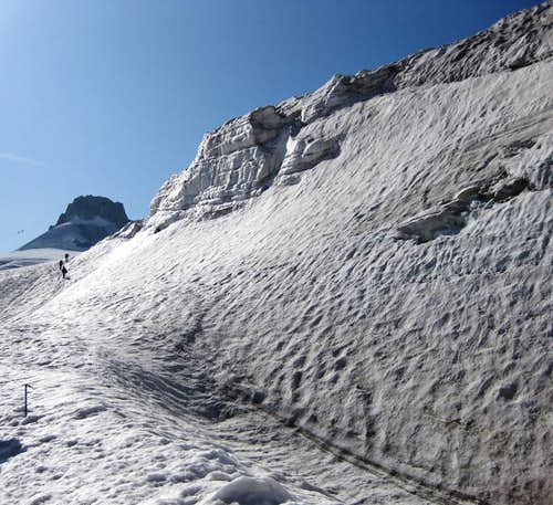 On the Glacier du Geant