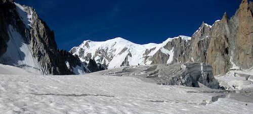 Mont Blanc from the Glacier du Geant