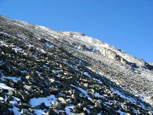 Mount Mahler\'s north face is...