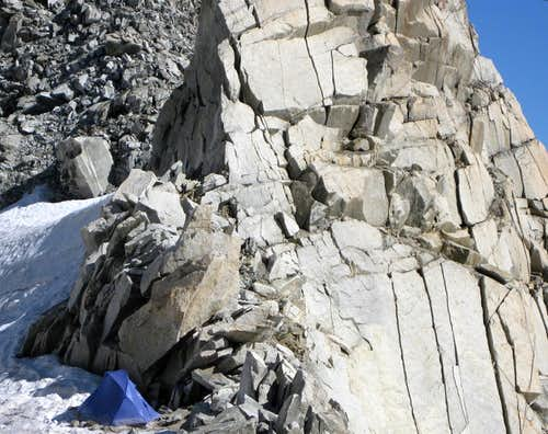 Camping on the Vallee Blanche