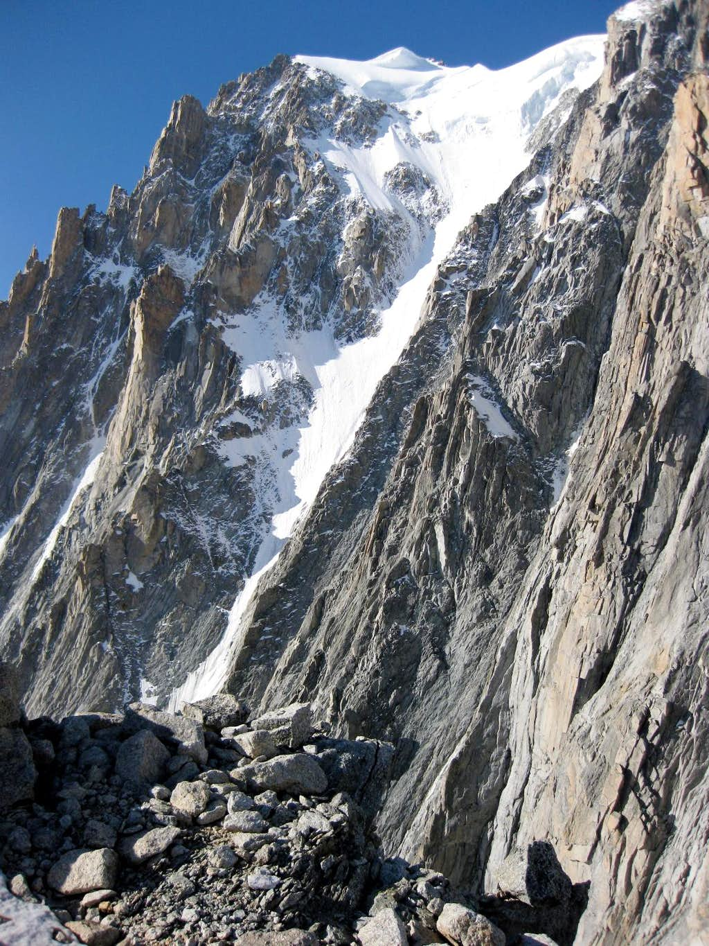 Gervasutti Couloir on Mont Blanc du Tacul