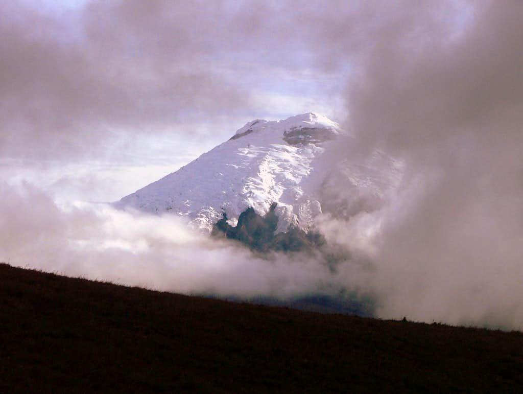Cotopaxi from lower ridge.