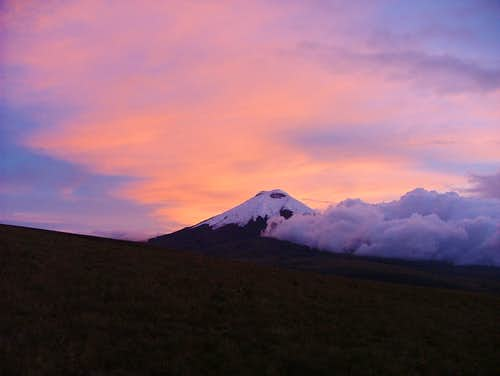 Sunset from Sincholagua. Ecuador.