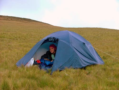Sincholagua camping spot.