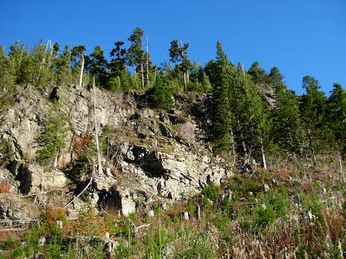 Little Haystack Rock Cliffs