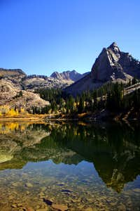 A Perfect Reflection of Monte Cristo and The Sundial off of Lake Blanche