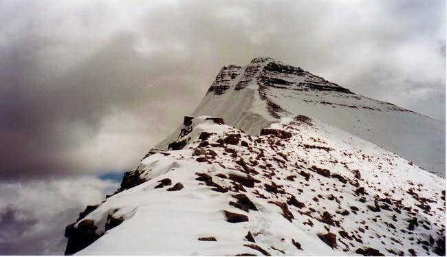 Summit ridge, Edith Cavell