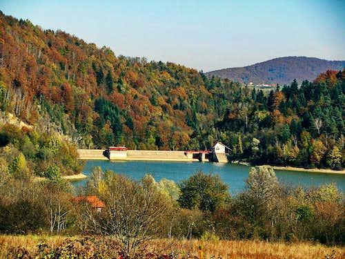 Klimkówka - dam on river Ropa