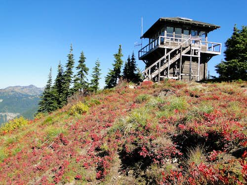 Fall colors and Shriner Peak lookout.