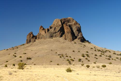 The eastern side of Cerro de Guadalupe