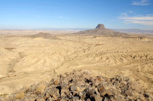 Cabezon Peak and Cerro Chato from Cerro de Guadalupe