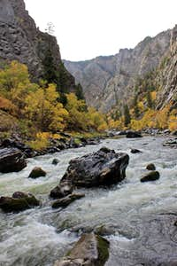 Autumn on Gunnison river