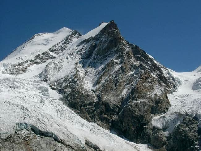 Castore (the peak is on the...