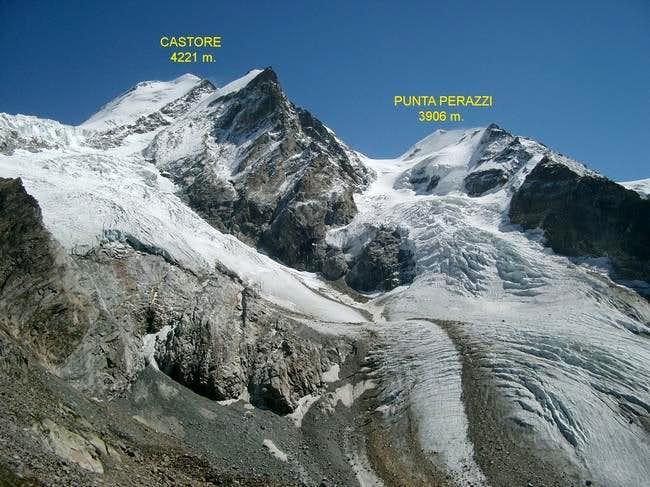Castore and Punta Perazzi