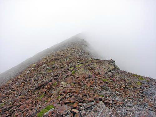 Final ridge with fog
