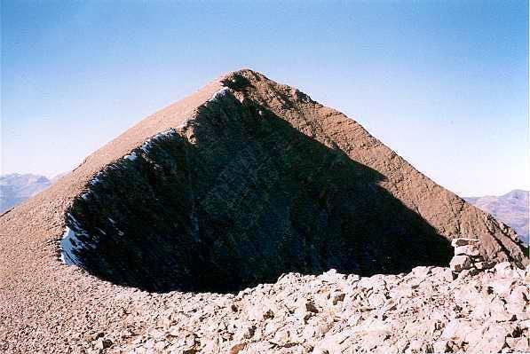 Final ridge of Peña de las Once