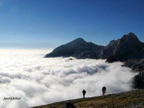 Last meters to the summit