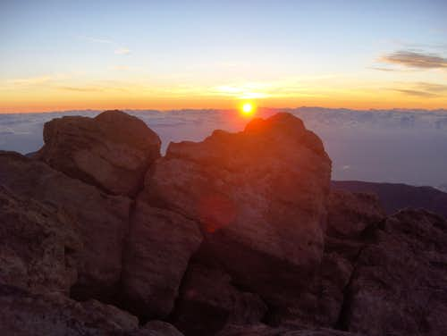 Sunrise on Pico del Teide