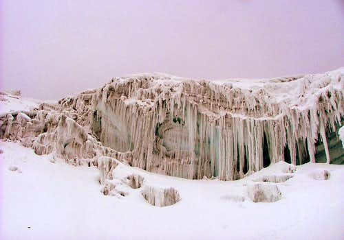 Cotopaxi icecles.