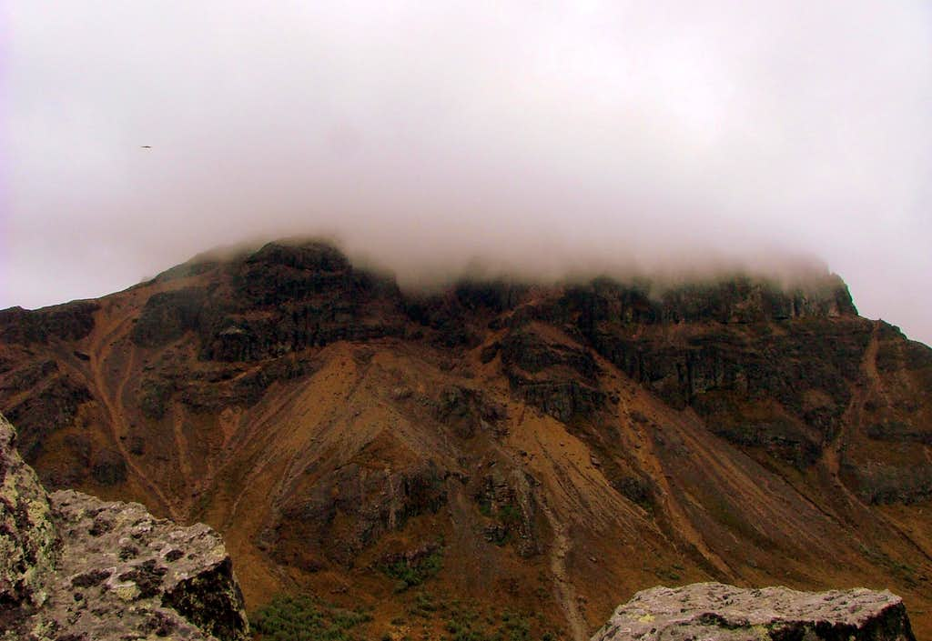 Sincholagua from Upper Ridge.