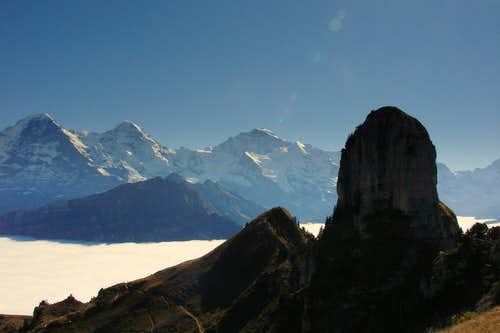 Eiger, Mönch and Jungfrau from Daube