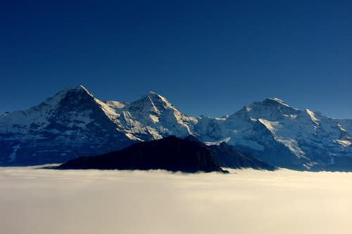 Eiger, Mönch and Jungfrau in a sea of clouds