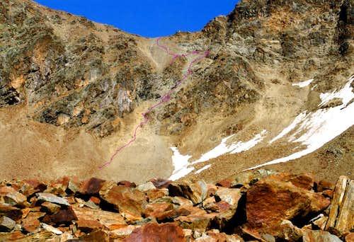 <b>Descent</b> from Valaisan's Pass