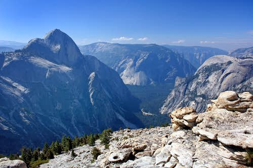 Half Dome from Mt. Watkins
