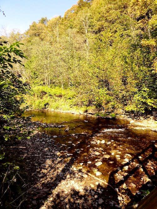 Stream of the Bieszczady Mountains.