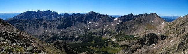 Panorama of the Gore Range...