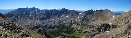 Panorama of the Gore Range...