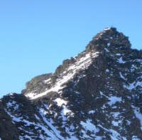The final pitch on the North ridge to the Madritschspitze / Cima Madriccio