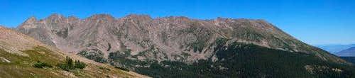 Panorama of the ridge...