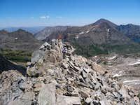 John Barbour nears Stanton Peak SC2010