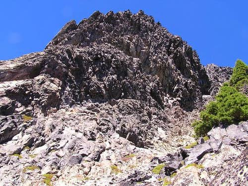 Overhangy rockface on the...