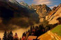 Gspaltenhorn and Sefinental valley