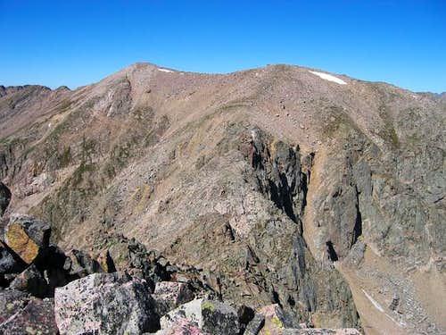 Keller Mountains summit and...