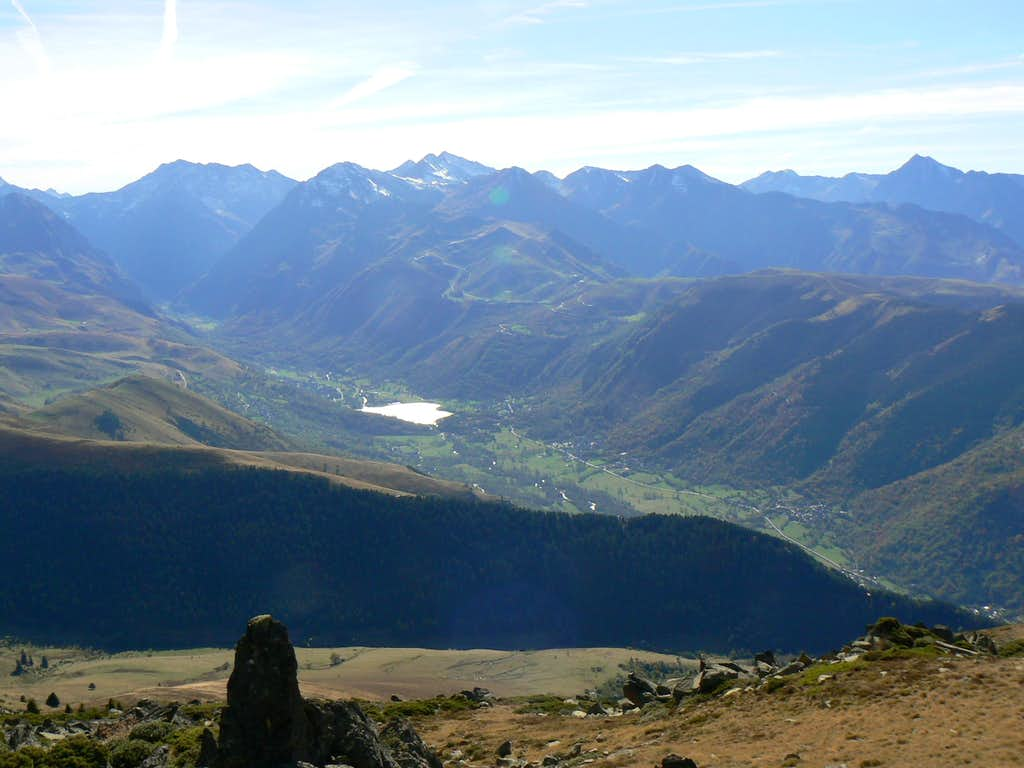 South view into the Louron valley