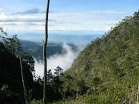 Route towards Pic La Selle