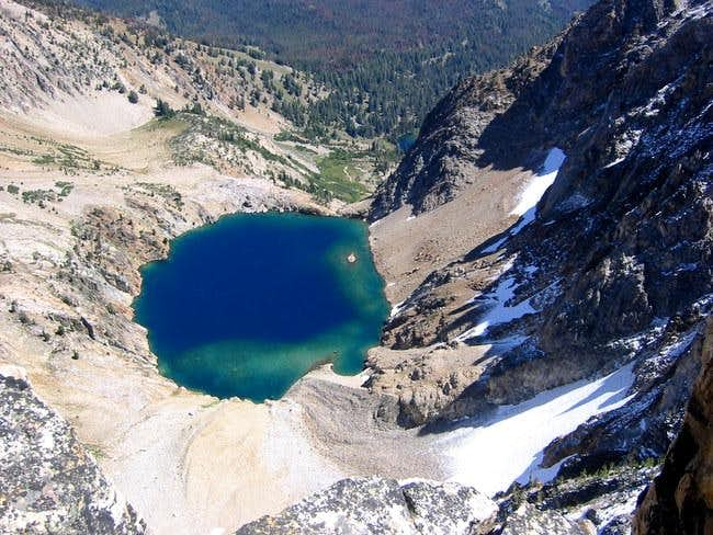 View down to the 9000 ft lake...