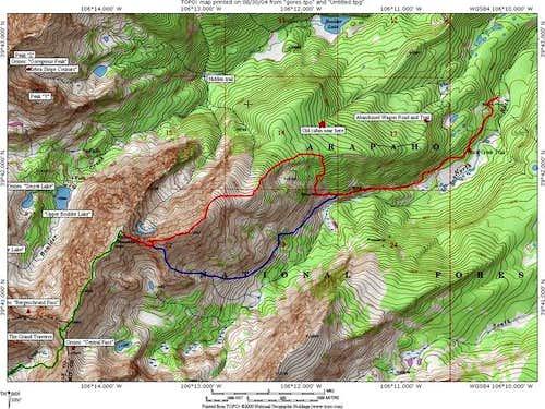 Keller Mountain Topo Map....