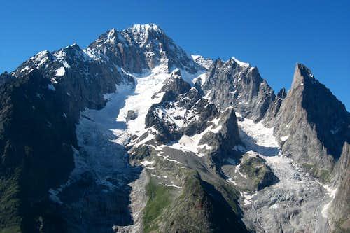 Mont Blanc, Aiguille Blanche de Peuterey and Aiguille Noire de Peuterey