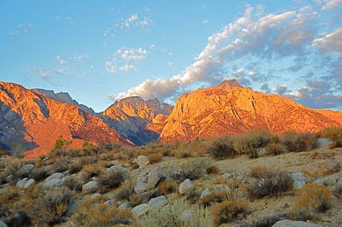 Sunrise on Lone Pine Peak...