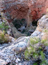 Looking down at Royal Arch Creek