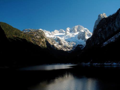 Dachstein group and Lake Vorderer Gosausee