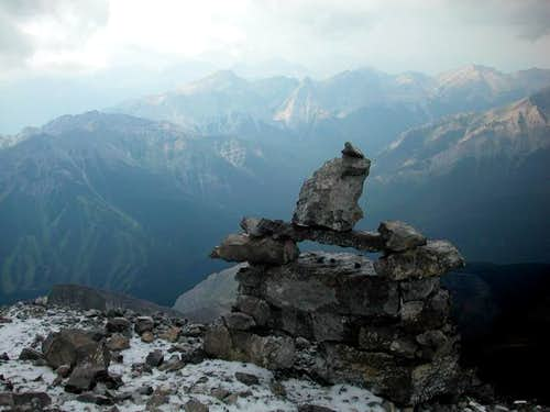 The cairn at the summit of...