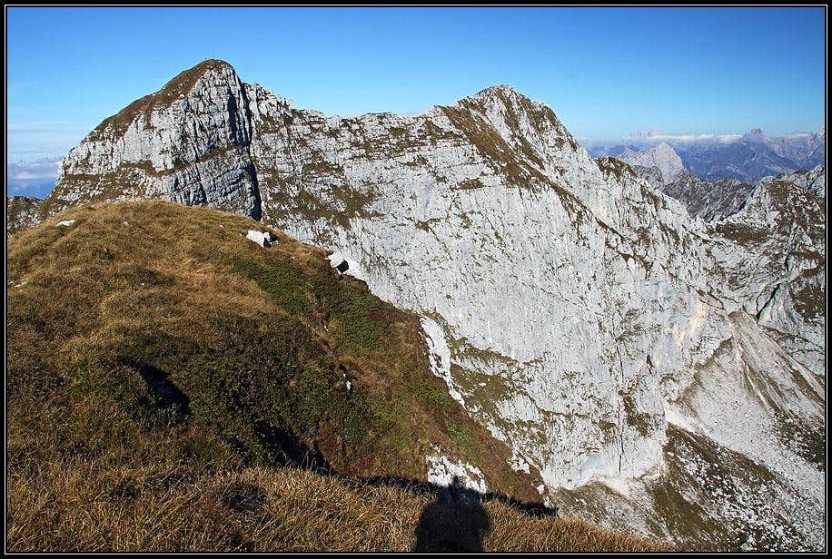 Cimon del Cavallo and Monte Laste from Cimon dei Furlani