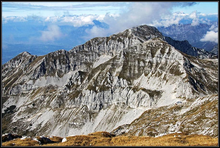 Monte Castelat from Cimon del Cavallo