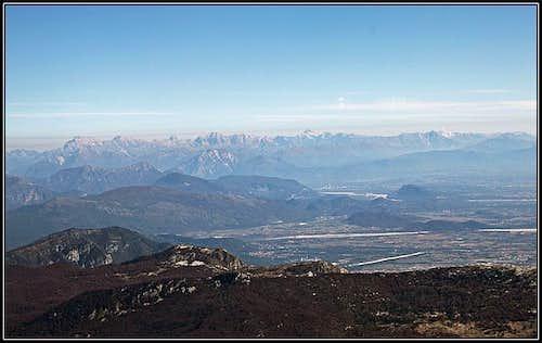 Julian Alps from Cimon del Cavallo